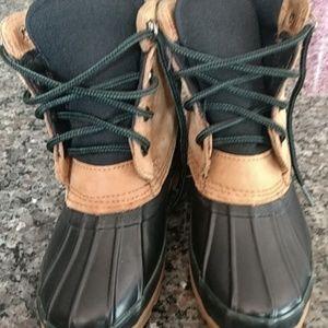 "Lands"" End duck boots"